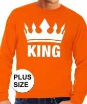 Grote maten koningsdag kroon trui oranje heren