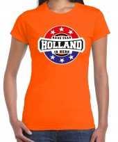 Have fear holland is here supporter shirt kleding met sterren embleem oranje voor dames