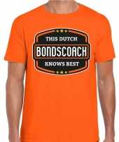 Holland nederlands elftal supporter t shirt oranje voor heren