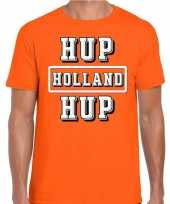 Hup holland hup nederlands elftal supporter t shirt oranje voor heren