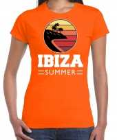 Ibiza summer shirt beach party stranfeest outfit kleding oranje voor dames
