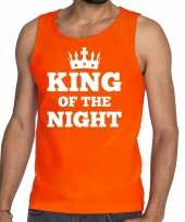 King of the night mouwloos shirt tanktop oranje heren