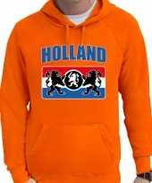 Oranje fan hoodie sweater met capuchon holland met een nederlands wapen ek wk voor heren