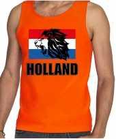 Oranje fan tanktop kleding holland met leeuw en vlag ek wk voor dames