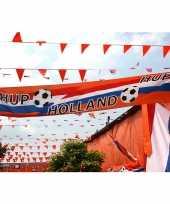 Oranje holland thema straat vlag van 74 x 340 cm