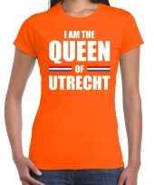 Oranje i am the queen of utrecht-shirt koningsdag t-shirt voor dames