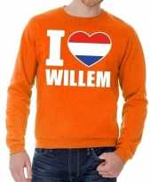 Oranje i love willem trui heren en dames