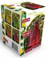 Oranje insectenval insectenvanger 13 cm van glas