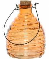 Oranje insectenval insectenvanger 17 cm