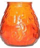 Oranje lowboy tafelkaarsje 40 branduren