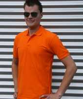 Oranje polo 100 cotton