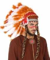 Oranje witte indianen tooi voor heren
