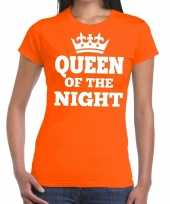 Queen of the night shirt oranje dames