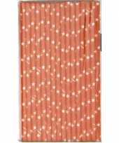 Rietjes met sterren oranje van papier