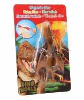 Rubberen speelgoed dino world oranje vingerpoppetje pterosauri rs