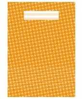 Schoolspullen schrift a4 gelinieerd oranje 10148007