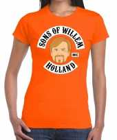 Sons of willem t-shirt oranje dames