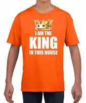 Woningsdag im the king in this house t-shirts voor thuisblijvers tijdens koningsdag oranje jongens kinderen