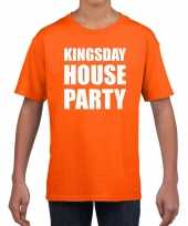 Woningsdag kingsday house party t-shirts voor thuisblijvers tijdens koningsdag oranje kinderen